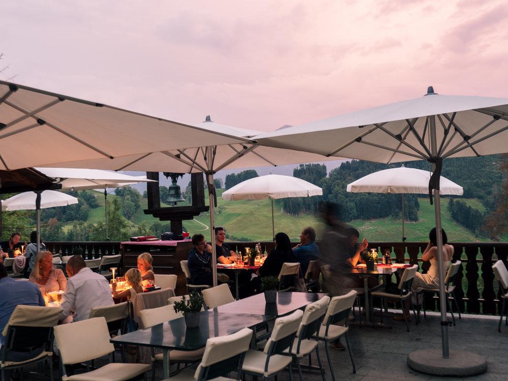 Restaurant Taverne 1879, Buergenstock Resort, Switzerland. Photo: Gunjan Virk.