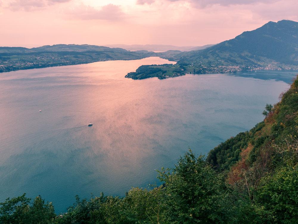 Lake Lucerne, Buergenstock, Switzerland. Photo: Gunjan Virk.