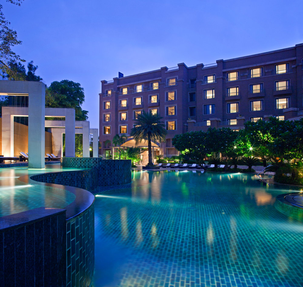 Radisson Blu Plaza Delhi Airport Hotel, Poolside. www.thingstodot.com.