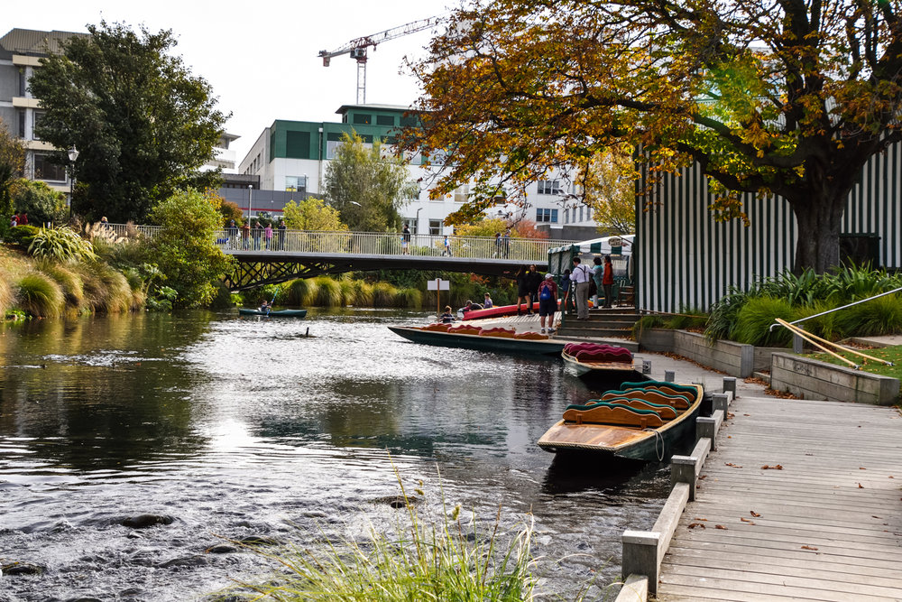 Punting on the Avon River, Christchurch, New Zealand. Photo: bebeball, Adobe Stock.