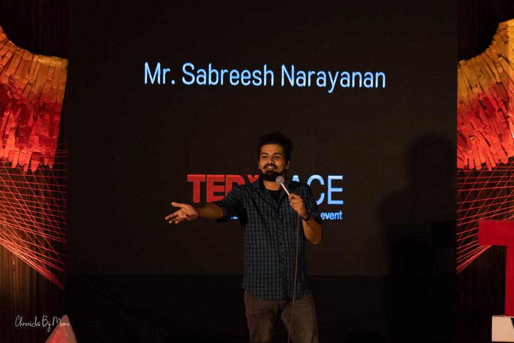 Sabreesh Narayanan, Standup comedian, Kochi, Kerala, India. www.thingstodot.com