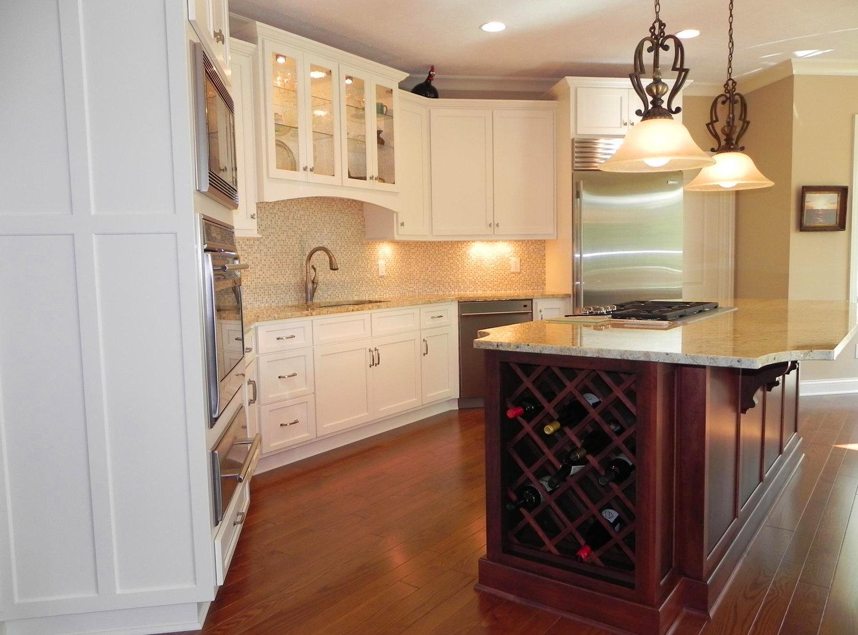 Wine Rack Island Cabinet