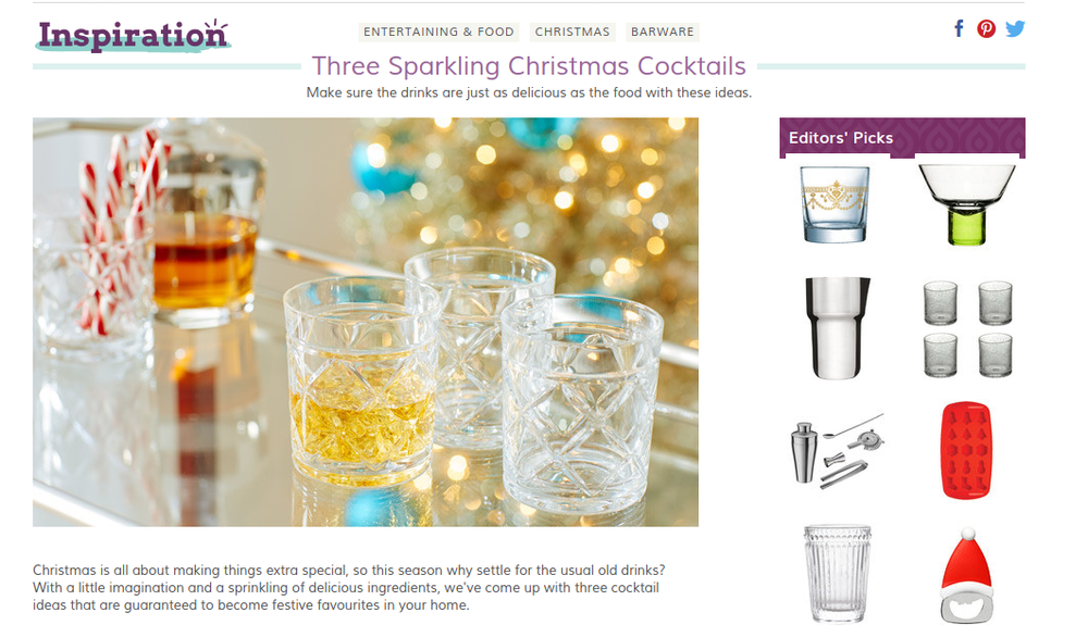 Christmas cocktails article from Wayfair.co.uk