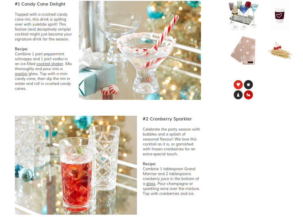 Christmas drinks editorial feature from Wayfair UK