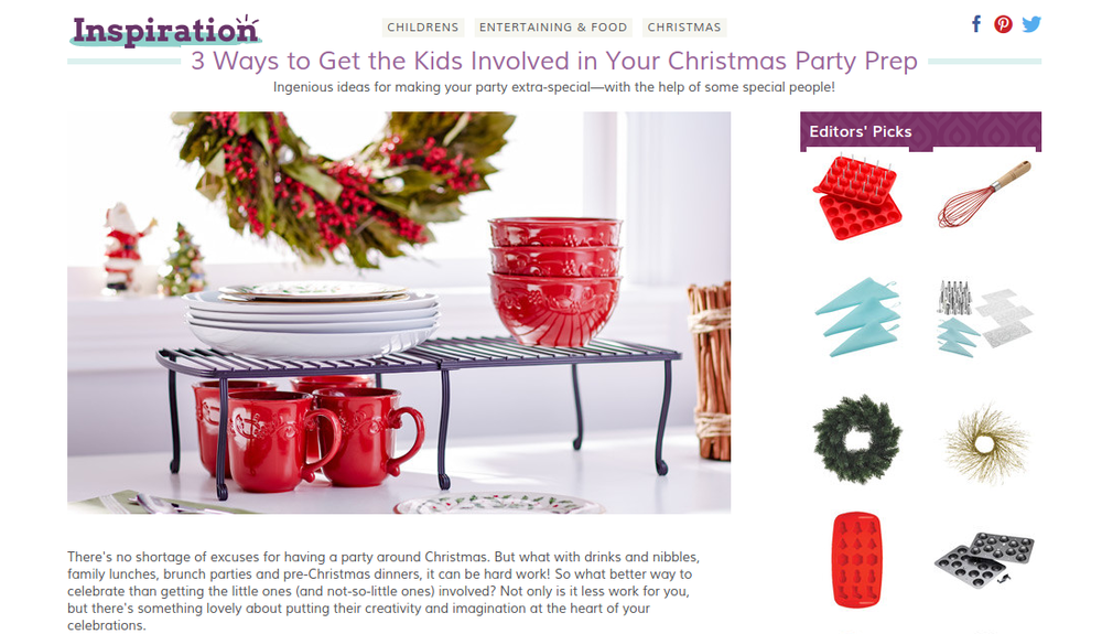 Kids' Christmas party planning article from Wayfair UK