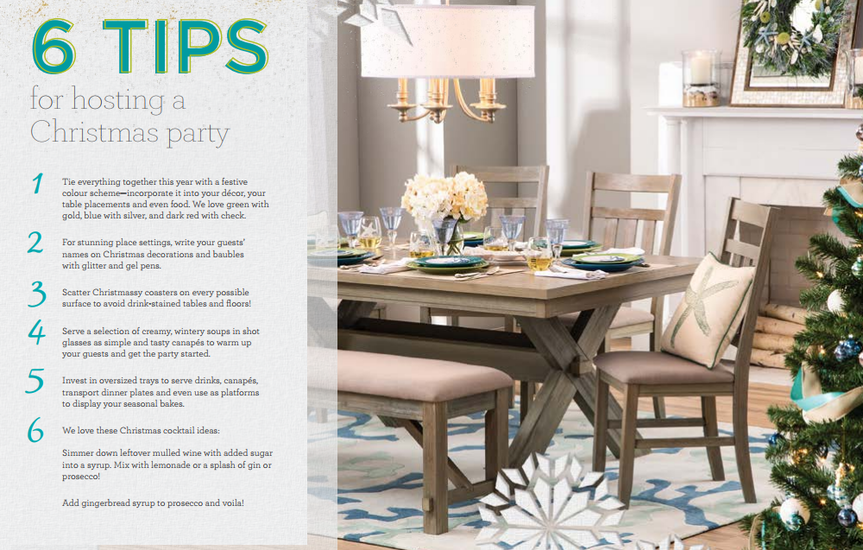 Christmas party tips article from Wayfair.co.uk