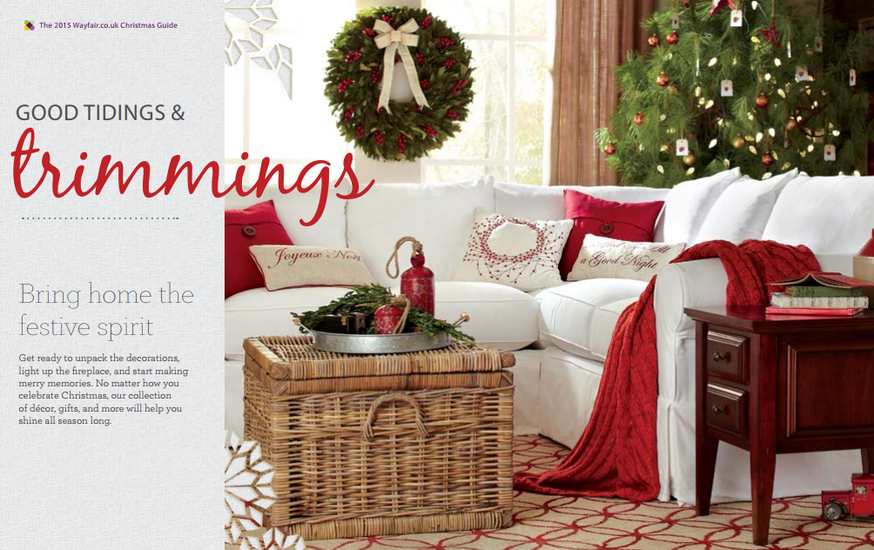 Christmas homeware lookbook from Wayfair UK