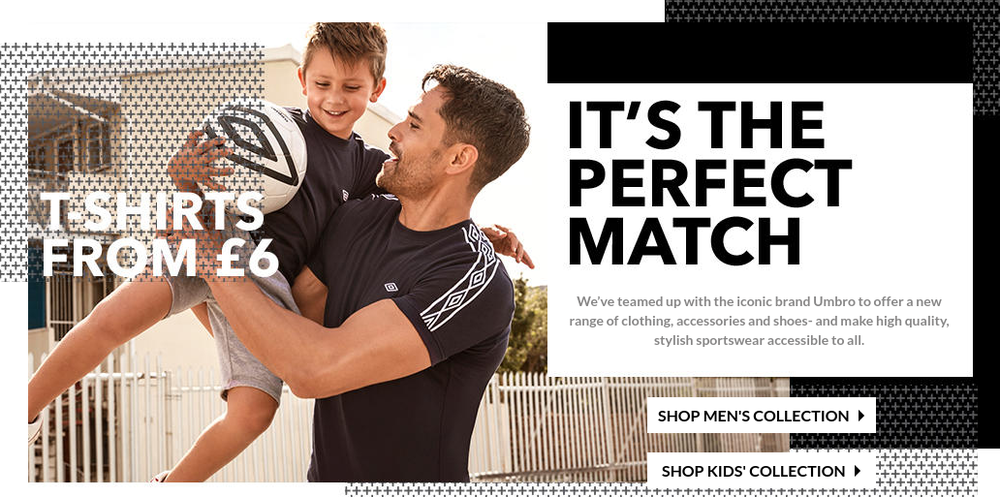 George at Asda and Umbro collaboration landing page 2016