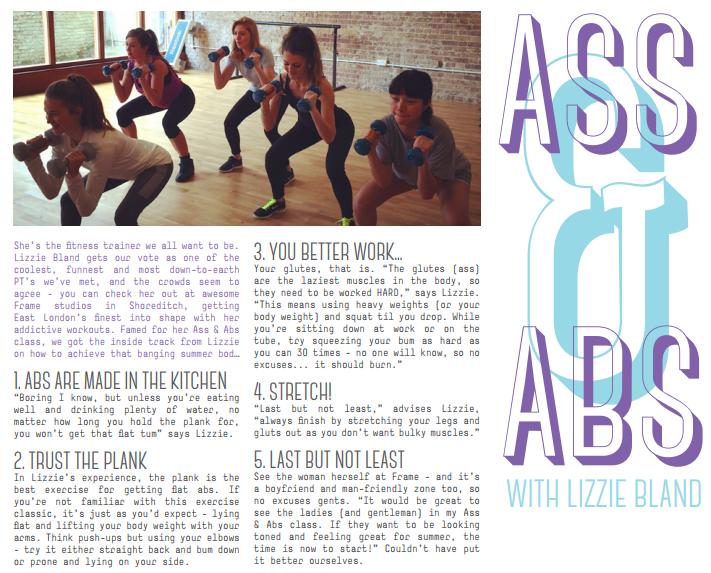 Women's fitness article written for Nike Women's internal print magazine