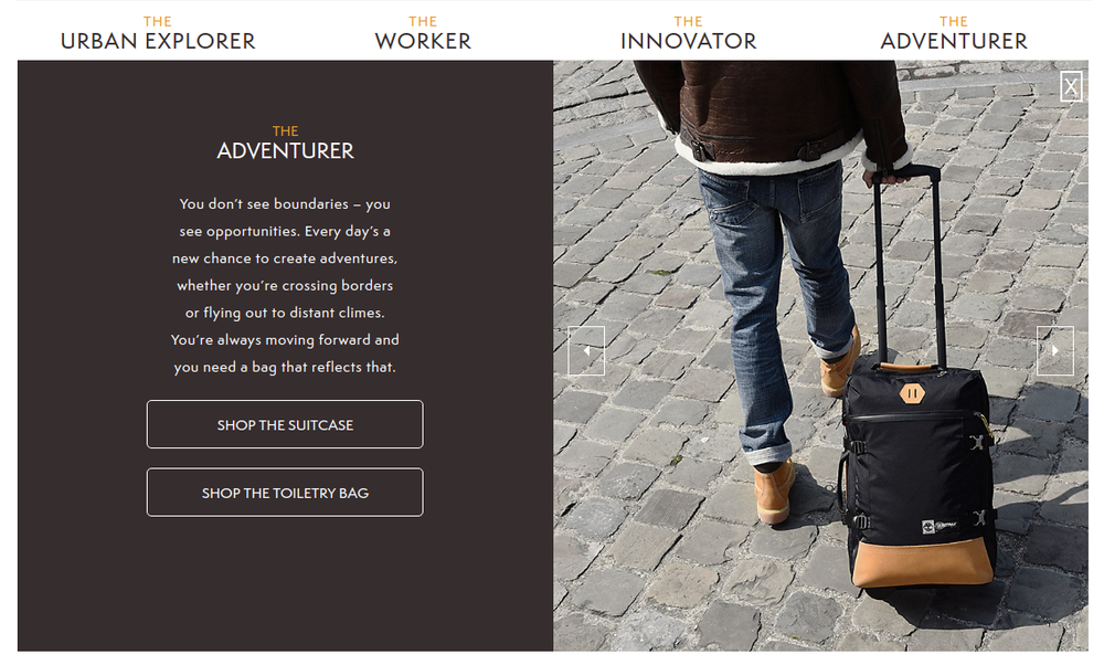 Web copy written by Elliott Sainsbury for the TImberland and Eastpak 2015 collaboration microsite