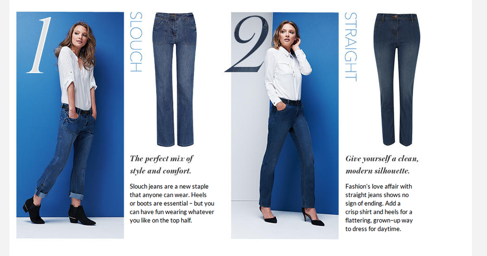 Women's denim fit landing page for George at ASDA