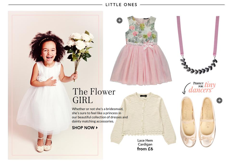 Kids' wedding trend feature from George at Asda