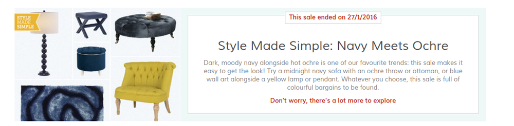 Wayfair daily sales Style Made Simple banner