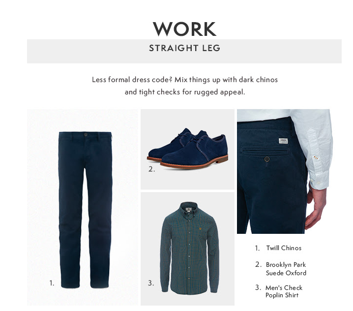 Timberland straight-leg chinos newsletter