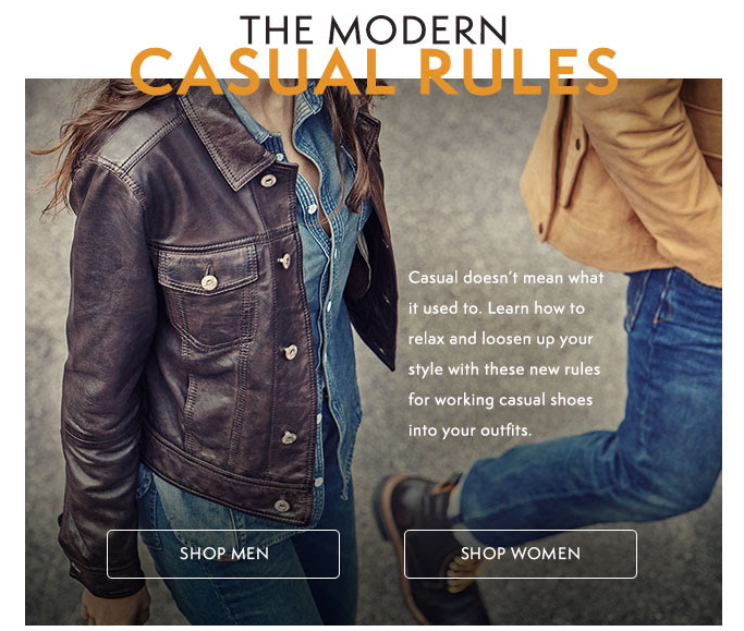 The Modern Casual Rules email produced for Timberland Europe