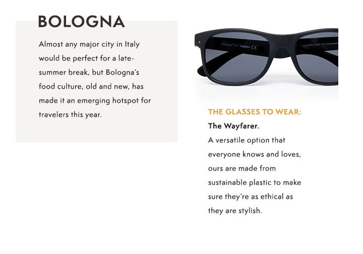 Example of men's Wayfarer sunglasses on sale at Timberland
