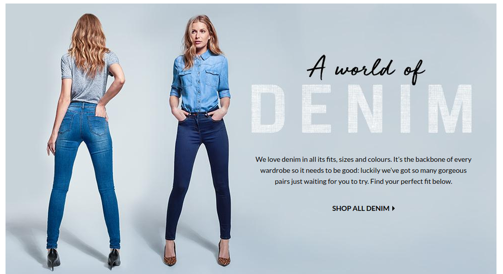 Women's denim fit guide for George at ASDA
