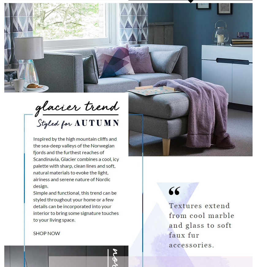 George Asda Home glacier interior design trend feature