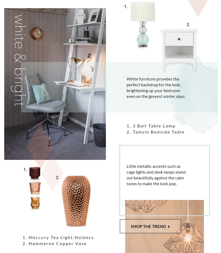 George at Asda copper and turquoise home feature