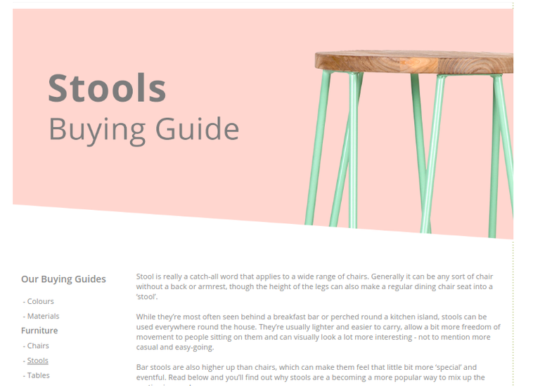 Stools buying guide for Cultfurniture.com