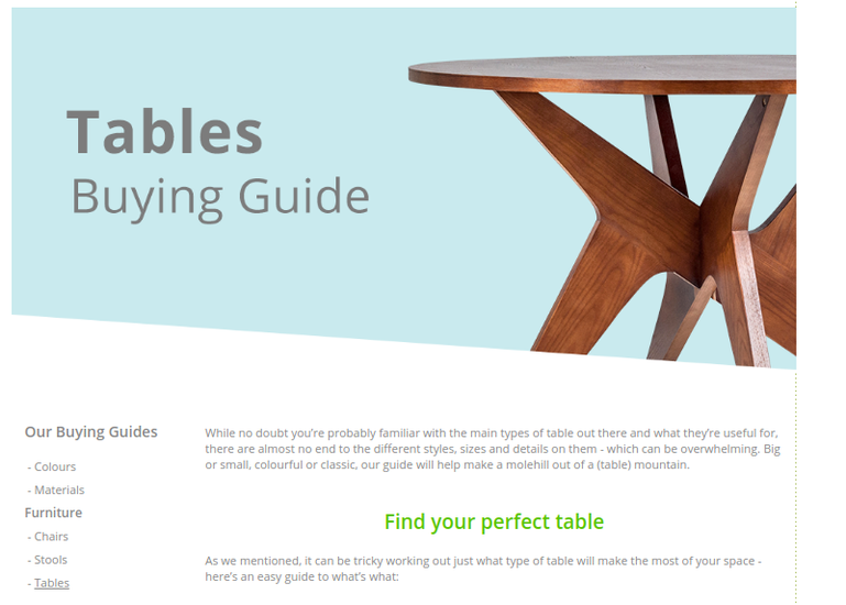Tables buying guide for Cultfurniture.com