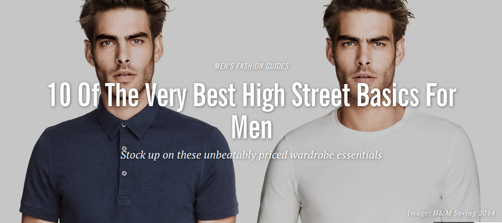 Fashionbeans: High Street Basics