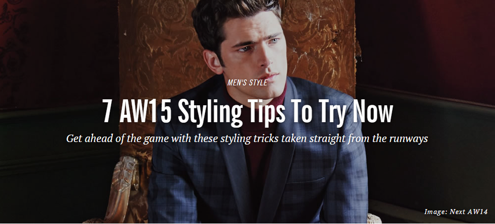Fashionbeans: AW15 Styling Tips