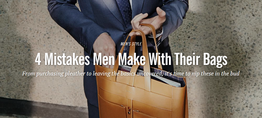 Fashionbeans: Men's Bag Mistakes