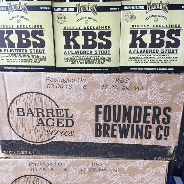 Happy Friday 🍺 Come pick up some @foundersbrewing KBS for the weekend #limitedquantities available! #barrelagedseries
