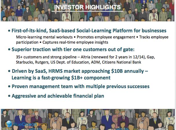 Sample  Investor Highlights Slide