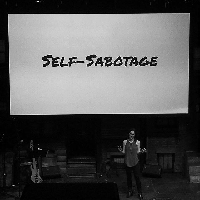 We've all done it.  Beth Clayton teaches us to not to destroy our self-saboteur, but to befriend it. #TEDxBway