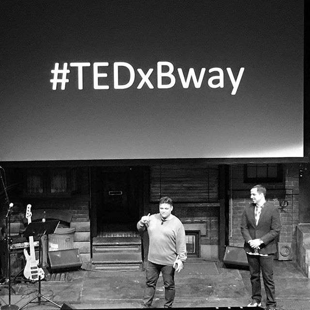 Our co-organizers take the stage. Also, how bout that hashtag? #TEDxBway