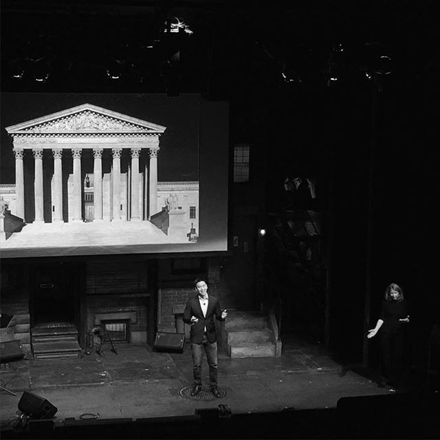 "Drama at the Supreme Court. Literally. Derrick Wang on the creation of his opera ""Scalia/Ginsburg"" at #TEDxBway."