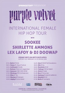 Purple Velvet Tourposter