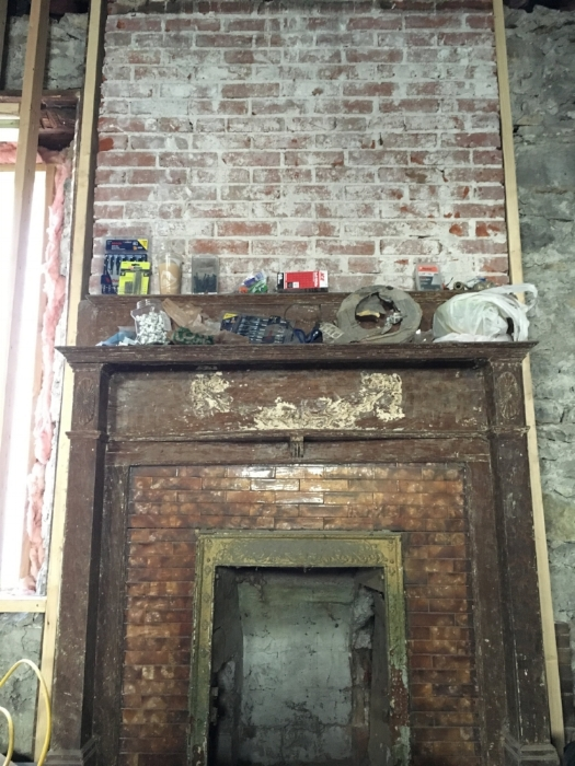 Before: 1899 Fireplace