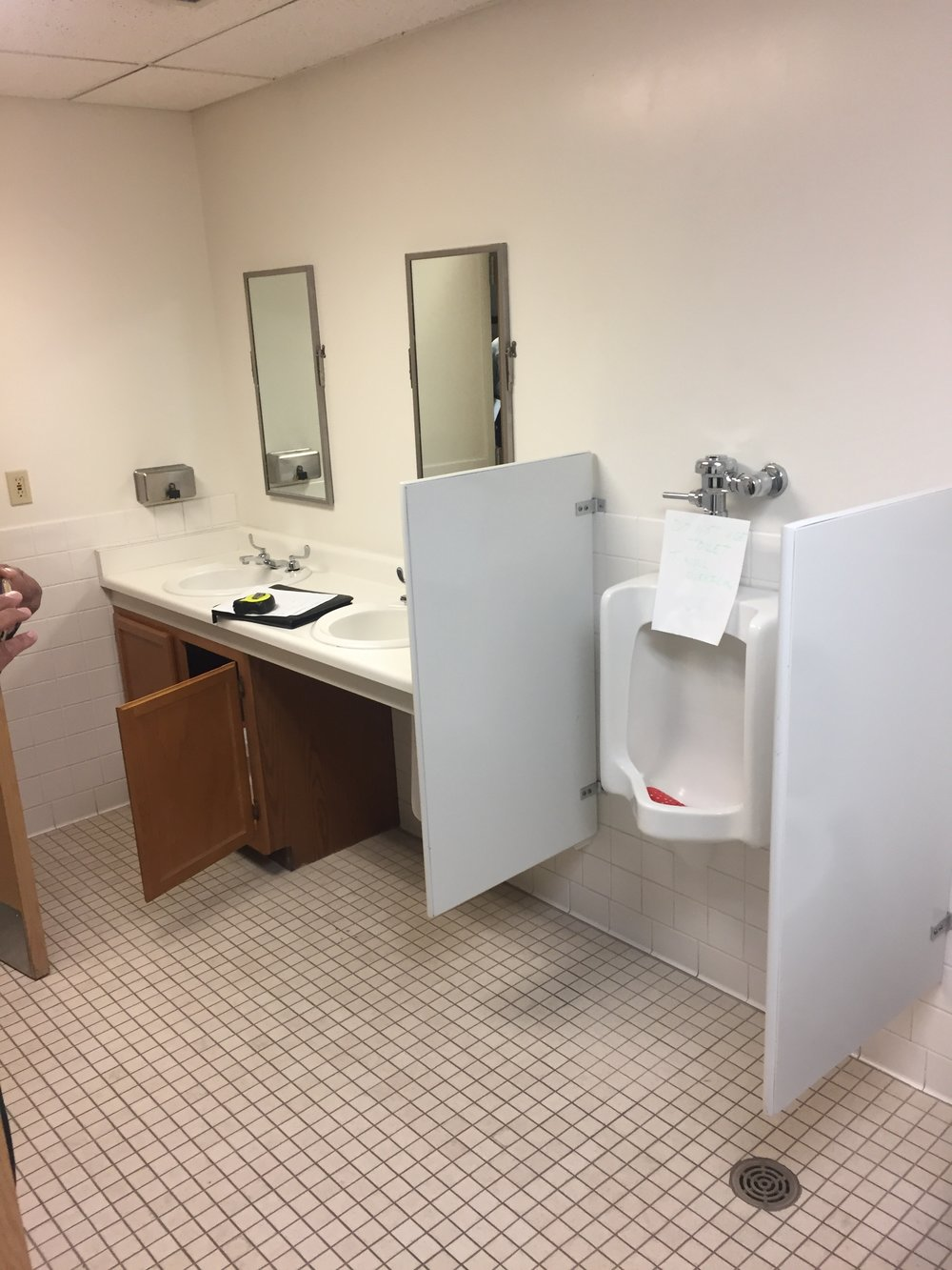 Before Photo of Restroom