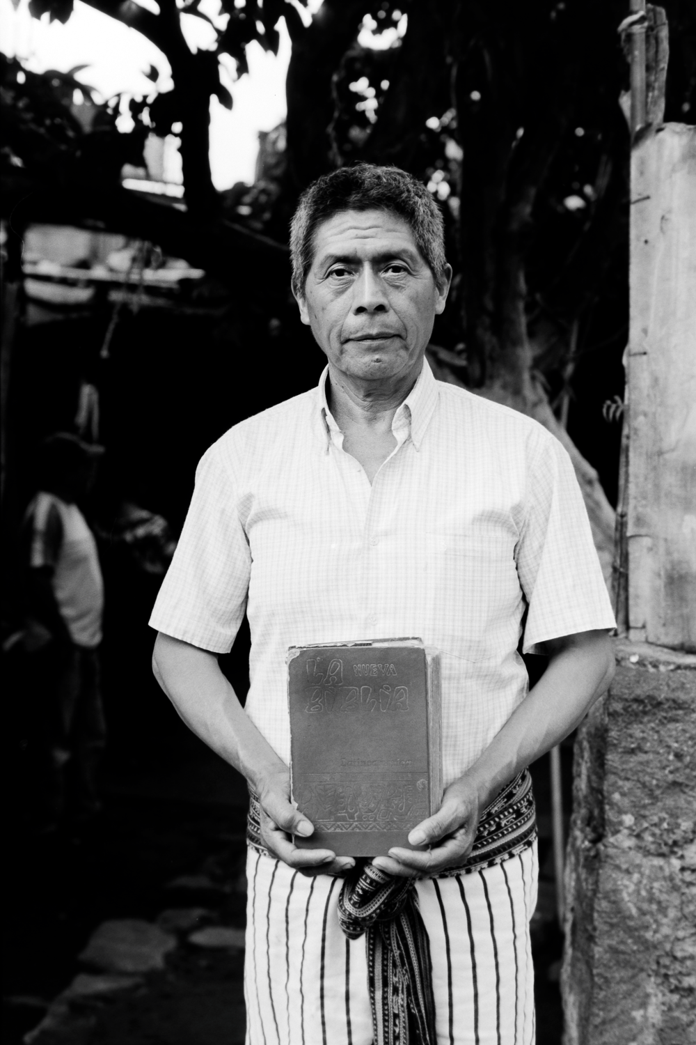Don Geronimo and his Bible from Fr. Stan