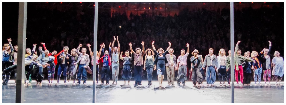 The cast of Babel 7.16 by Eastman at 2016 Festival d'Avignon, photo ©Sharp