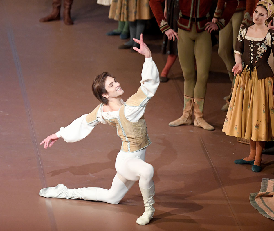 "Friedemann Vogel as Prince Siegfried in John Cranko's ""Swan Lake"""