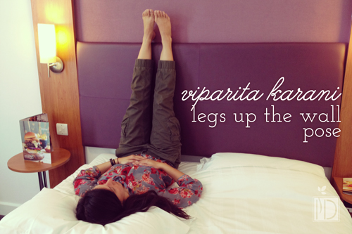 Viparita Karani - Legs Up Wall (or headboard) Pose