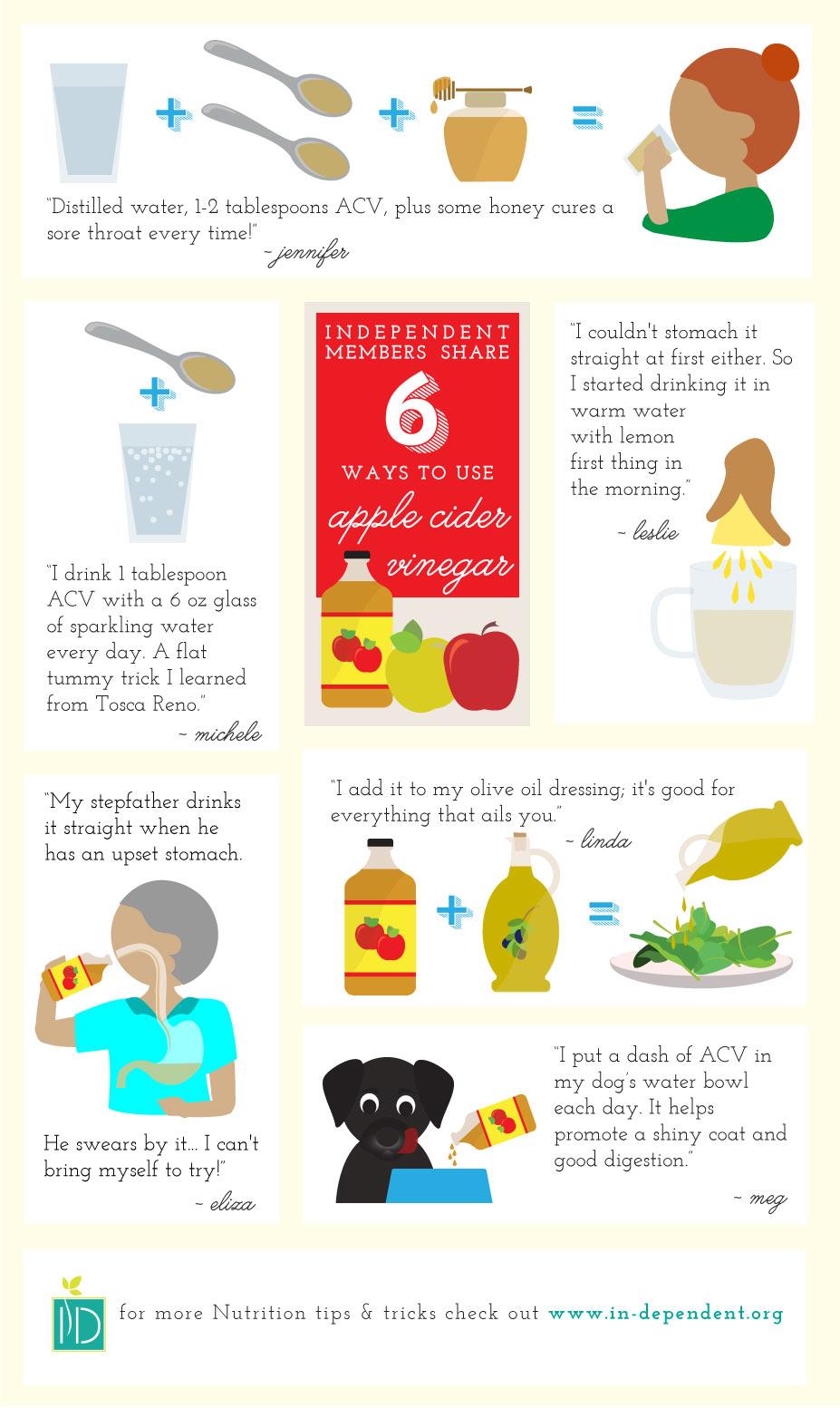 Six Ways to Use Apple Cider Vinegar