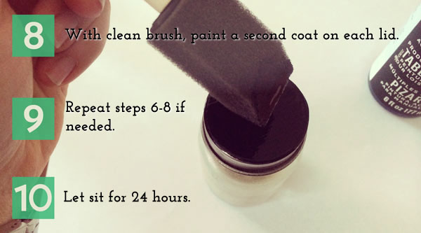 8.	With a clean brush, paint a second coat. 9.	Repeat steps 6-8 if necessary for full coverage. 10.	Let sit for at least 24 hours.