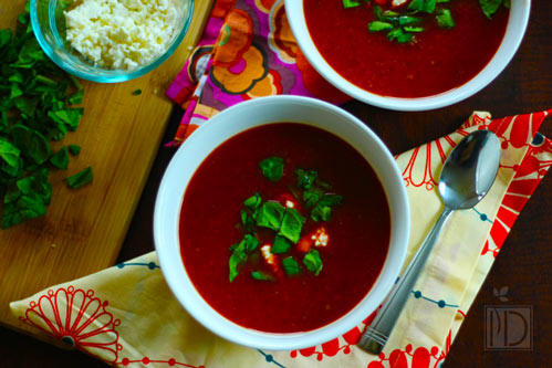 Cumin Scented Beet & Carrot Soup