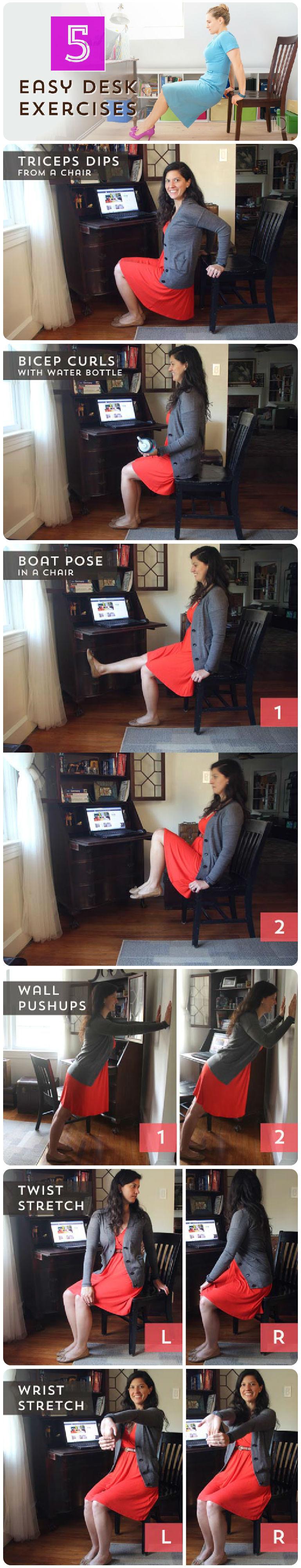Five Easy Desk Exercises
