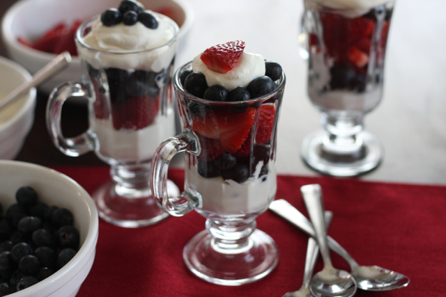 Berries with Fresh Whipped Cream