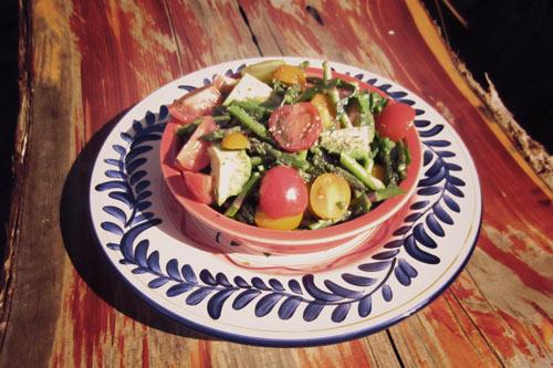 Cherry Tomato Asparagus Salad