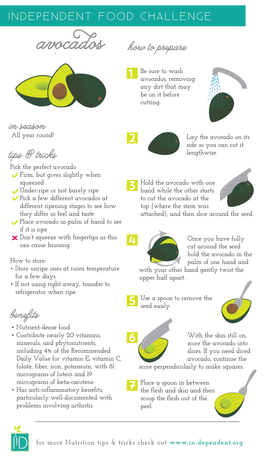 Food Challenge: Avocados Infographic
