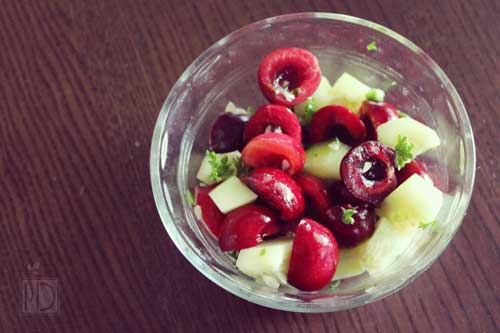 cherries salad