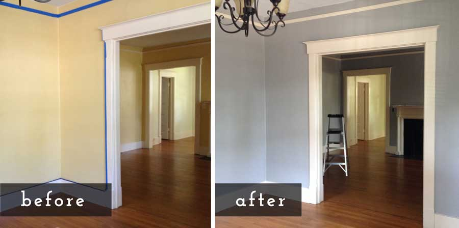 Beautiful Diy Paint House Beforeafter With How Much To Paint Inside Of House .