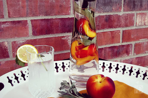 Peachy Georgia Infused Water